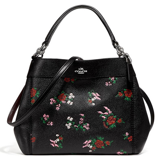 กระเป๋า COACH F25858 SMALL LEXY SHOULDER BAG WITH CROSS STITCH FLORAL PRINT (SVM2) [MCF25858SVM2]
