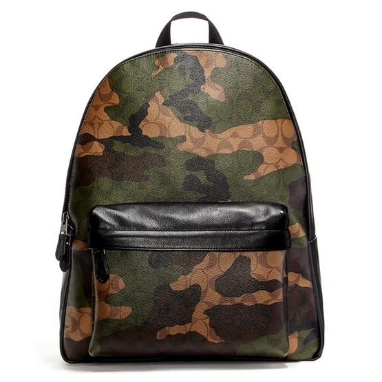 กระเป๋า COACH F59914 CHARLES BACKPACK IN ANIMATED SIGNATURE CAMO PRINT COATED CANVAS (QBMGQ) [MCF59914QBMGQ]