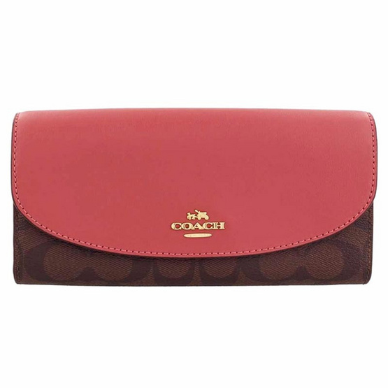 กระเป๋าสตางค์ COACH F54022 SLIM ENVELOPE WALLET IN SIGNATURE (IMCAG) [MCF54022IMCAG]