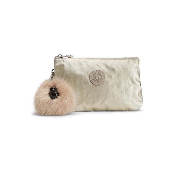 กระเป๋าคล้องมือ Kipling Creativity XL - Silver Beige [MCK1581302R]