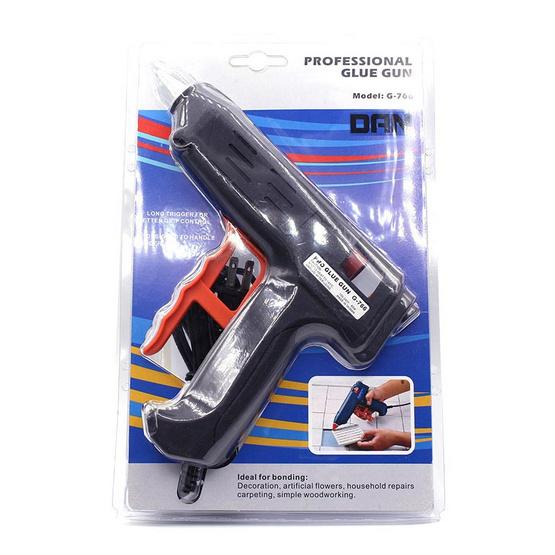 CIT ปืนยิงกาวไฟฟ้า PYLOX G766 (80W) สีดำ พร้อมไส้กาว 2 แท่ง