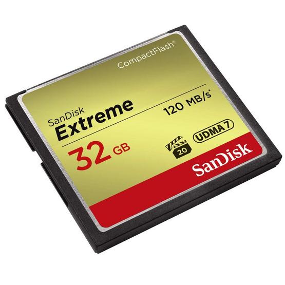 SanDisk Extreme CF Card 32GB Speed 120MBs