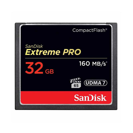 SanDisk Extreme Pro CF Card 32 GB Speed 160MBs