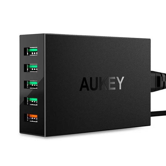 Aukey หัวชาร์จ  Aipower 4Port QC3.0 1Port รุ่น PA-T15