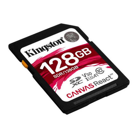 Kingston Canvas React SDHC Memory Card 128GB
