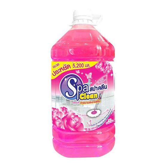 สปาคลีนเอชเอ็ม ผลิตภัณฑ์ทำความสะอาดพื้น 5200 มล. กลิ่นโรแมนติกโรส
