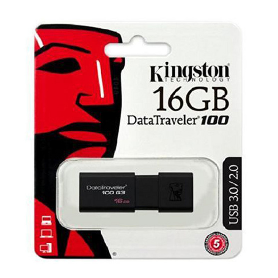 Kingston Flash Drive USB3.1 Gen1 DT100G3 16 GB