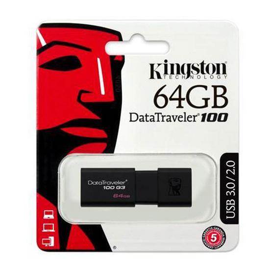 Kingston Flash Drive USB3.1 Gen1 DT100G3 64 GB