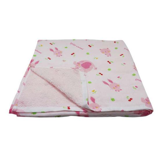 Little Wacoal ผ้าเช็ดตัวผ้ากาเสะ (ผ้าขนหนูผสมผ้าสาลู) สีชมพู