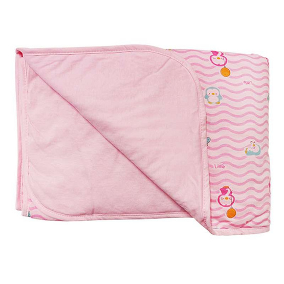 Little Wacoal ผ้าห่มเด็ก เพนกวิน ขนาด 30 x 40 สีชมพู