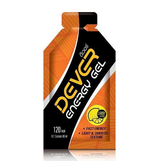 DEVER Energy gel set ดีเวอร์ เครื่องดื่มแบบเจล รวมรส 40 มล. (รวม 6 ซอง)