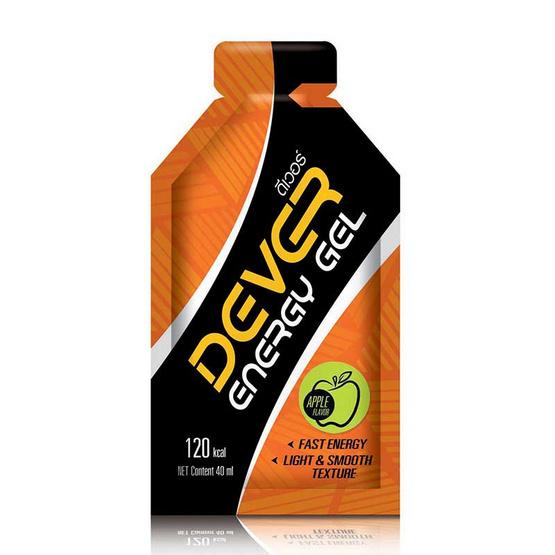 DEVER Energy gel set ดีเวอร์ เครื่องดื่มแบบเจล ให้พลังงาน 120 กิโลแคลอรี่ 40 มล. รวมรสบรรจุ 12 ซอง