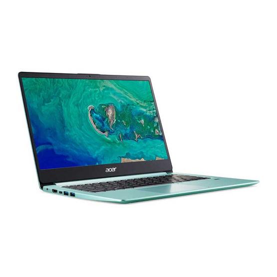 Acer Notebook Swift1 SF114-32-P2PP PQCN5000 4G 128GINT W10 Aqua Green