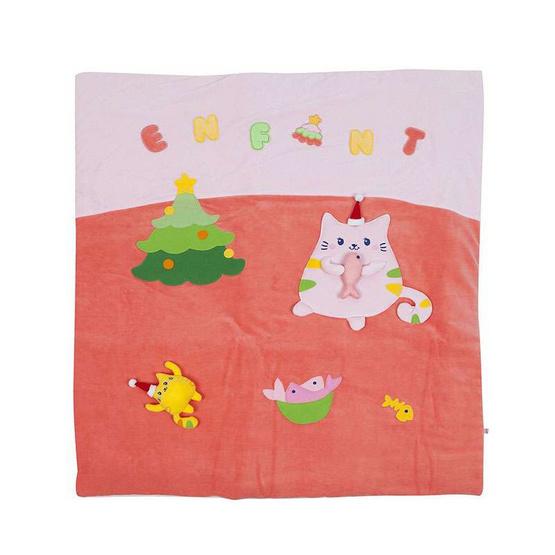 Enfant ผ้าห่มลายแมวคริสมาสต์