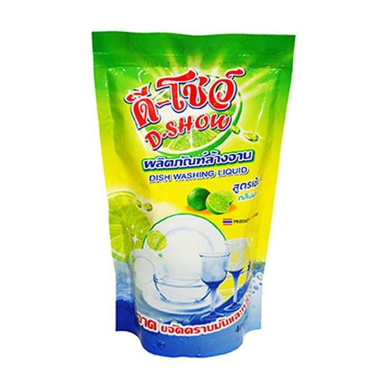 น้ำยาล้างจาน ดีโชว์ 400 มล. ถุงเติม (แพ็ค 12)