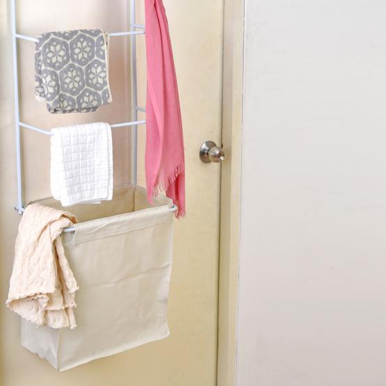 Shopsmart ที่แขวนขอบประตูพร้อมตะกร้าผ้า