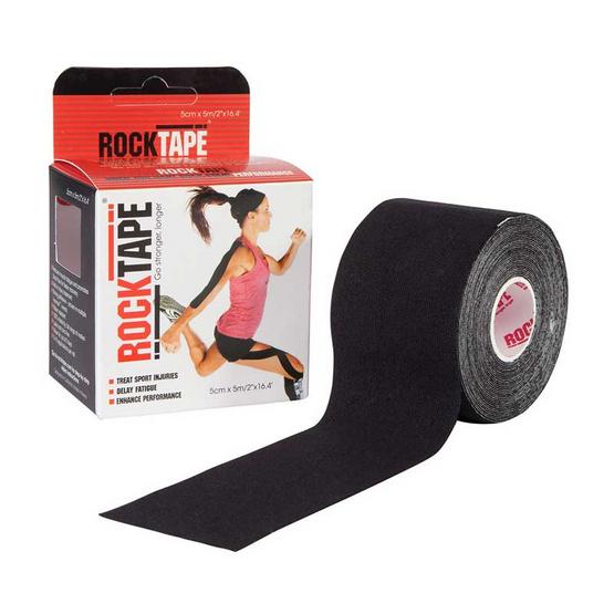 ROCKTAPE เทปพยุงกล้ามเนื้อ รุ่นมาตรฐาน สีดำ ขนาดกว้าง 5cm ยาว 5m