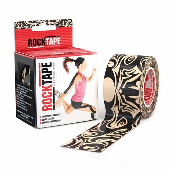ROCKTAPE เทปพยุงกล้ามเนื้อ รุ่นมาตรฐาน ลายแท็ททู สีดำ ขนาดกว้าง 5cm ยาว 5m
