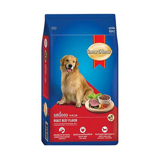 Smartheart อาหารสุนัขโต รสเนื้ออบ 3 กิโลกรัม