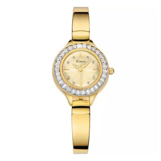 Kimio นาฬิกาข้อมือผู้หญิง สีทอง สายสแตนเลส รุ่น KW6031