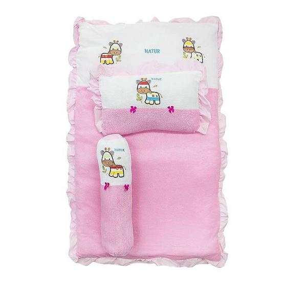 NATUR ที่นอนปิกนิกผ้าขนหนู ขนาด 22x35 นิ้ว สีชมพู