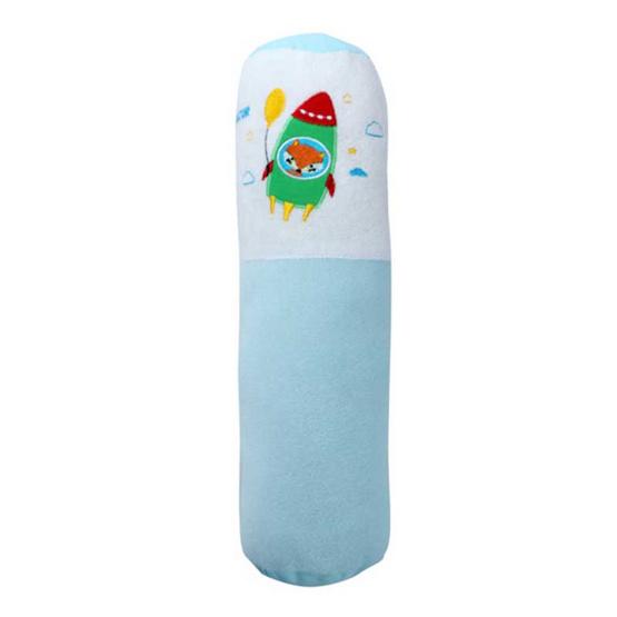NATUR ที่นอนฟองน้ำผ้าขนหนู ขนาด 22x35x2.5 นิ้ว สีฟ้า