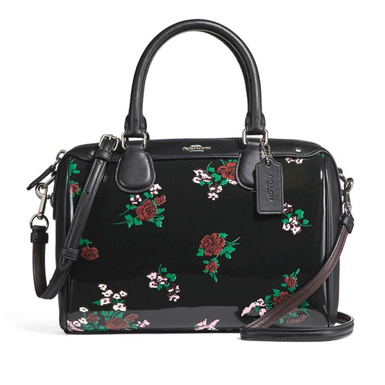 กระเป๋า COACH F25856 MINI BENNETT SATCHEL WITH CROSS STITCH FLORAL PRINT