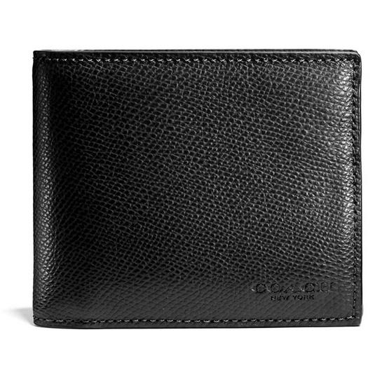 กระเป๋าสตางค์ COACH F59112 COMPACT ID WALLET IN CROSSGRAIN LEATHER