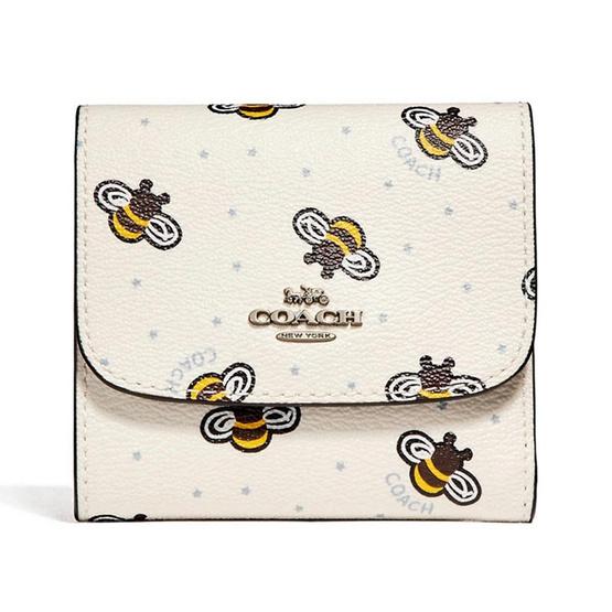 กระเป๋าสตางค์ COACH F25972 SMALL WALLET WITH BEE PRINT