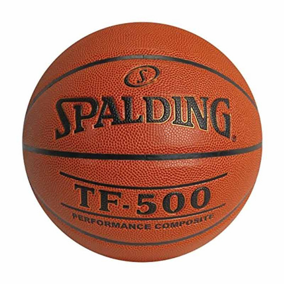 Spalding ลูกบาส NBA รุ่น TF-500 COMPOSITE สีน้ำตาล แถมฟรีที่สูบลม