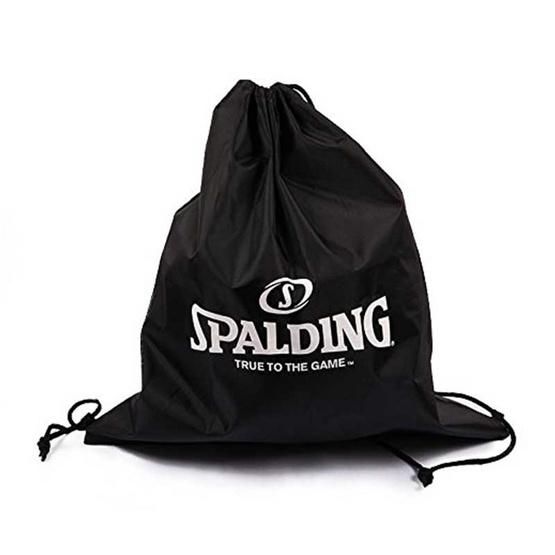 Spalding ถุงผ้าร่มสำหรับใส่ลูกบาส ขนาด เบอร์ 6 สีดำ