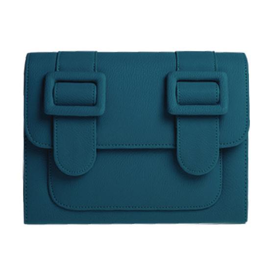 Merimies Plain Pretty M-Turquoise สีล้วนเขียวเข้ม M