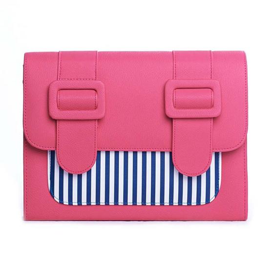 Merimies Strip Cute L-Shocking Pink ริ้วชมพู L