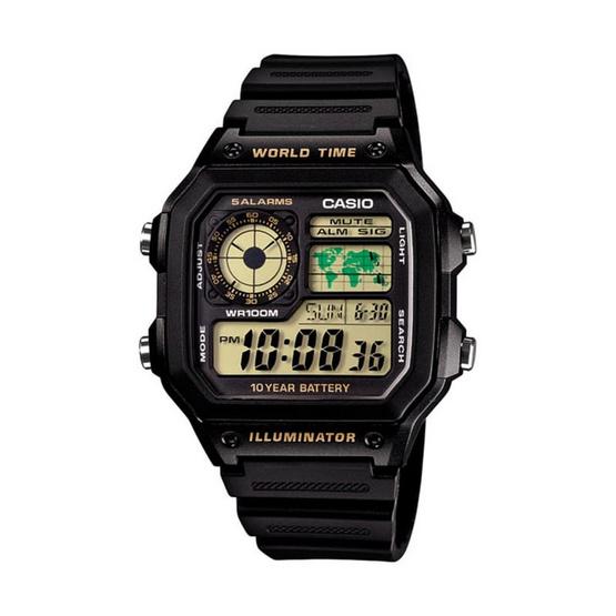 CASIO นาฬิกาข้อมือ รุ่น AE-1200WH-1BVDF