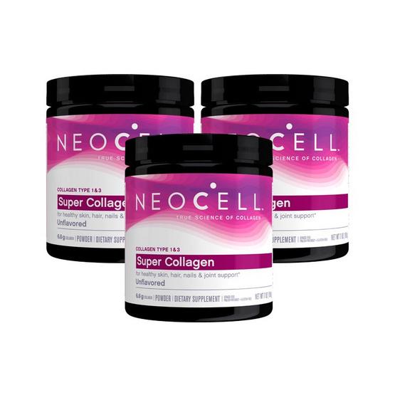 Neocell ผลิตภัณฑ์เสริมอาหาร นีโอเซลล์ คอลลาเจน ชนิดผง ขนาด 198 กรัม แพ็ค 3 กระปุก