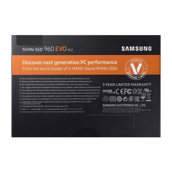 Samsung SSD 960 EVO M.2 NVMe/PCIe 250GB
