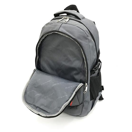 BLUE PLANET กระเป๋าเป้ รุ่น P1406-2 สีเทา