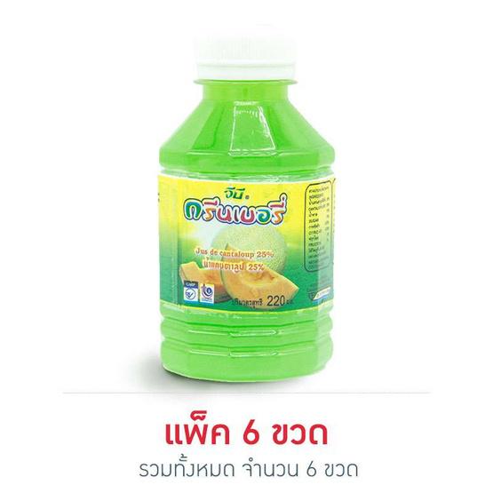 กรีนเบอรี่ น้ำแคนตาลูป 25% 220 มล. (แพ็ค 6 ขวด)