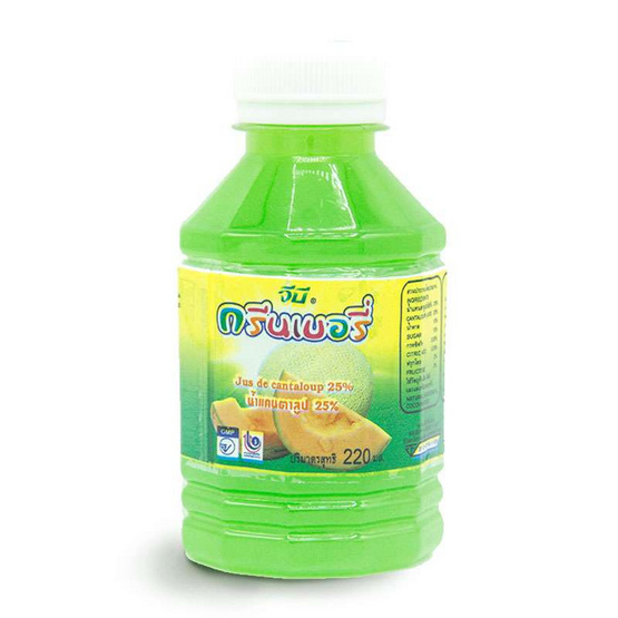 กรีนเบอรี่ น้ำแคนตาลูป 25% 220 มล. (ยกลัง 48 ขวด)