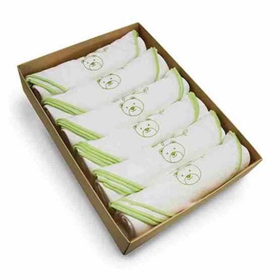 Enfant GREEN ผ้าอ้อมสาลู Bamboo ขนาด 30X30 นิ้ว (แพ็ค 6 ผืน)