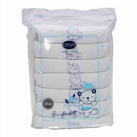 Enfant BLUE ผ้าอ้อมสาลู Cotton ขนาด 27X27 นิ้ว (แพ็ค 6 ผืน)