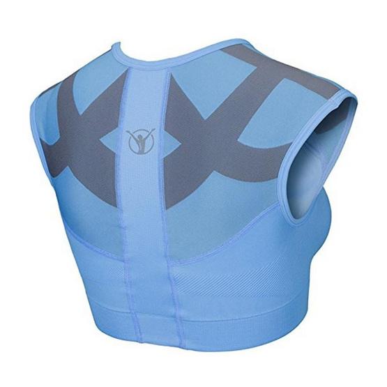 BackJoy เสื้อสปอร์ตบราพยุงกล้ามเนื้อ สีฟ้า