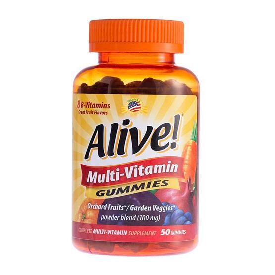 Alive ผลิตภัณฑ์เสริมอาหารอะไลซ์ กัมมี่ วิตามินรวม บรรจุ 50 ชิ้น/กระปุก
