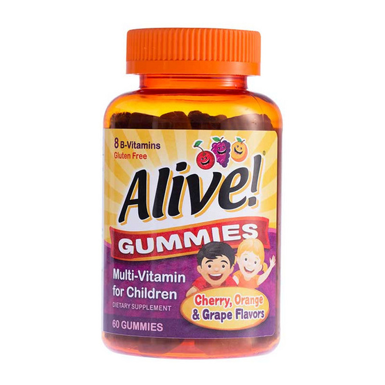 Alive ผลิตภัณฑ์เสริมอาหารอะไลซ์ กัมมี่ สำหรับเด็ก บรรจุ 60 ชิ้น/กระปุก