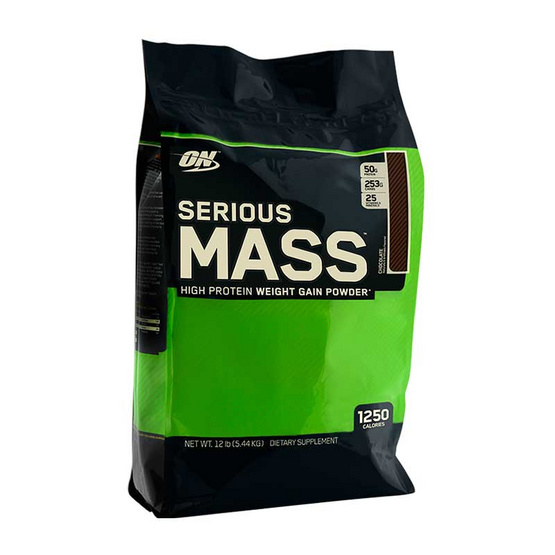 ON Optimum Serious Mass Whey protein เวย์โปรตีน รุ่น Weight Gainer ขนาด 12 lbs รสช็อคโกแลต