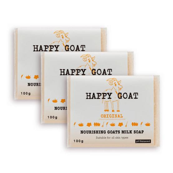Happy Goat Milk Soap Original pack 3