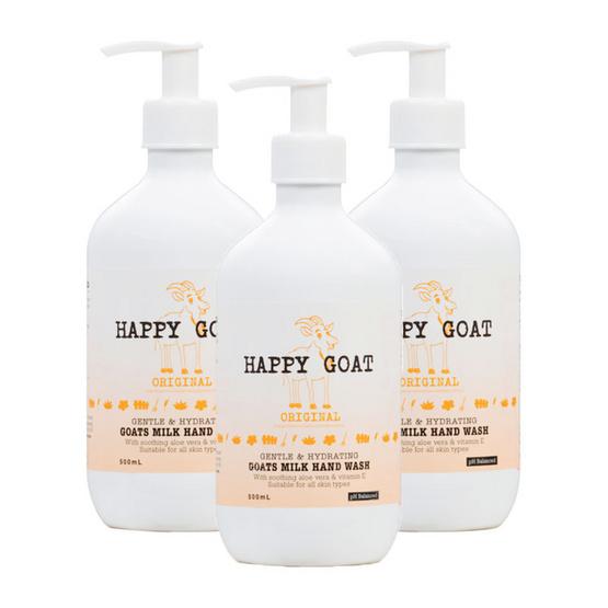 Happy Goat Milk Handwash Original pack 3