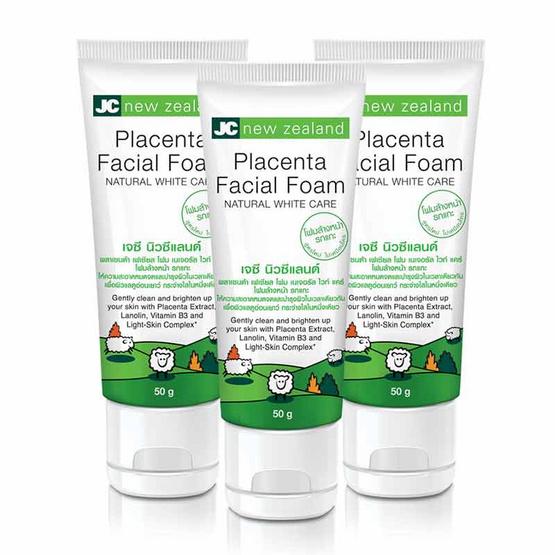 JC new zealand placenta Facial Foam 50 g (Pack 3)