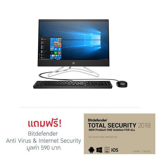 HP All In One Computer AIO 24-f0034d (Touch) Black