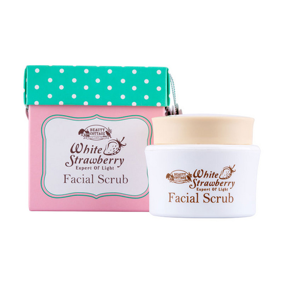 BEAUTY COTTAGE WHITE STRAWBERRY EXPERT OF LIGHT FACIAL SCRUB